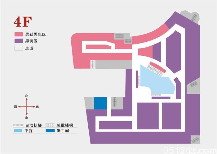 昆山商厦含各分店的楼层导航图平面示意图