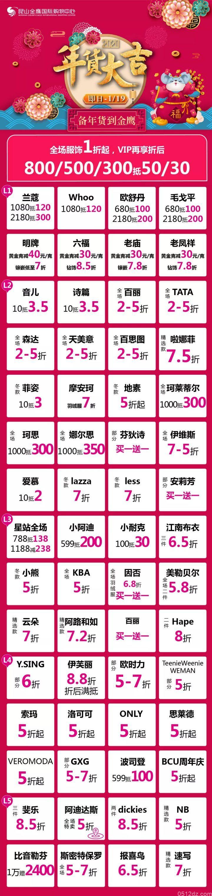 昆山金鹰国际购物中心1.10-12年货大集活动